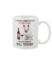 Wine and Bull Terrier 2 Mug front