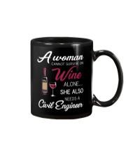 Wine and A Civil Engineer Mug thumbnail