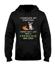 Frenchie and Food Hooded Sweatshirt thumbnail