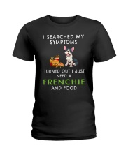 Frenchie and Food Ladies T-Shirt thumbnail
