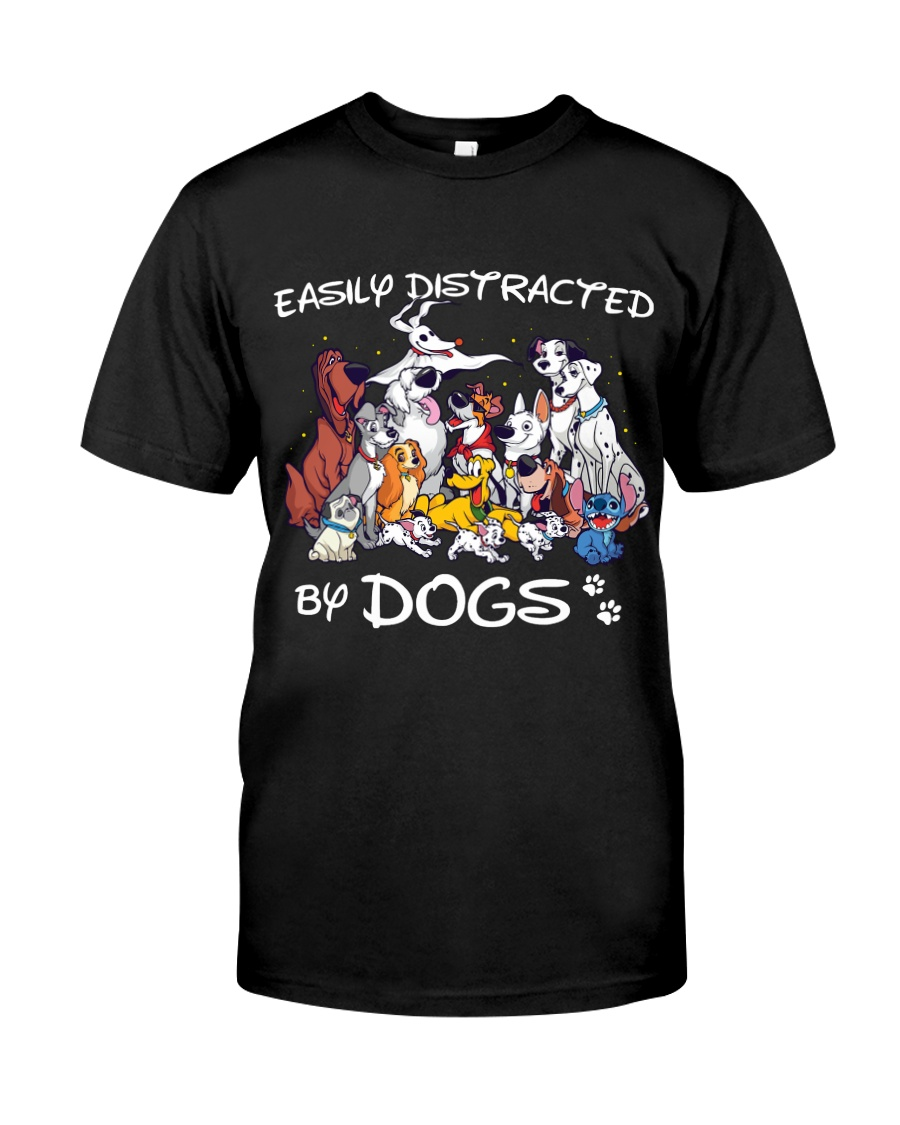 Distracted by Dogs Classic T-Shirt