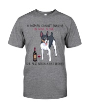 Wine and Rat Terrier 2 Classic T-Shirt tile