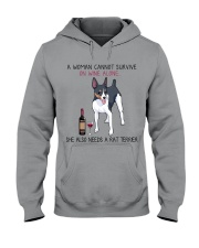 Wine and Rat Terrier 2 Hooded Sweatshirt thumbnail