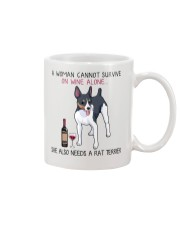 Wine and Rat Terrier 2 Mug thumbnail