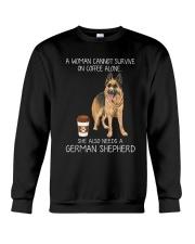 Coffee and German Shepherd Crewneck Sweatshirt thumbnail