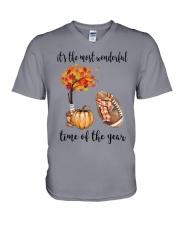 The Most Wonderful Time - American Football V-Neck T-Shirt thumbnail