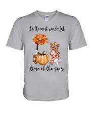 The Most Wonderful Time - Yorkie V-Neck T-Shirt thumbnail