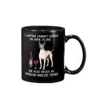 Wine and American Hairless Terrier Mug thumbnail