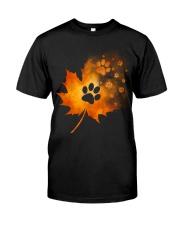 Paw Autumn Leaf  Classic T-Shirt front