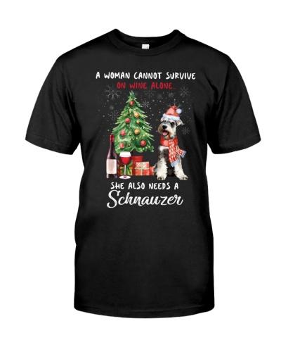 Christmas Wine and Schnauzer