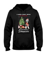 Christmas Wine and Schnauzer Hooded Sweatshirt thumbnail