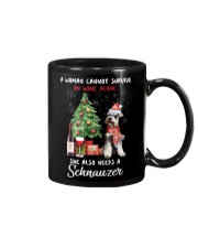 Christmas Wine and Schnauzer Mug thumbnail