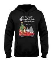 Wonderful Christmas with Truck - Beagle Hooded Sweatshirt thumbnail