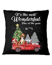 Wonderful Christmas with Truck - Beagle Square Pillowcase thumbnail