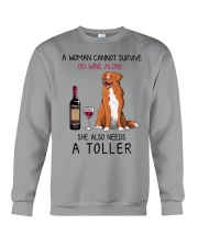 Wine and Toller 2 Crewneck Sweatshirt thumbnail