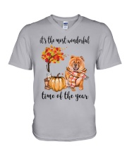 The Most Wonderful Time - Chow Chow V-Neck T-Shirt thumbnail