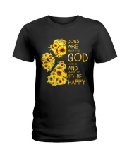 God Loves Us and Want Us To Be Happy 2 Ladies T-Shirt thumbnail