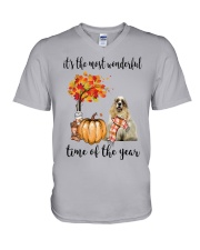 The Most Wonderful Time - American Cocker Spaniel V-Neck T-Shirt thumbnail