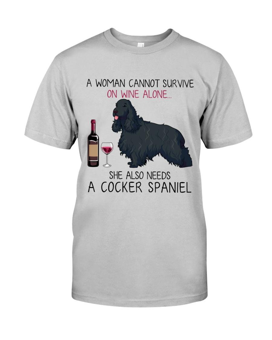 Wine and Cocker Spaniel 4 Classic T-Shirt
