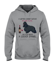 Wine and Cocker Spaniel 4 Hooded Sweatshirt thumbnail