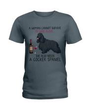 Wine and Cocker Spaniel 4 Ladies T-Shirt thumbnail