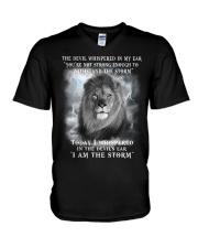 Lion The Storm V-Neck T-Shirt thumbnail