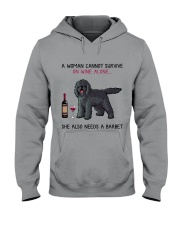 Wine and Barbet 2 Hooded Sweatshirt thumbnail
