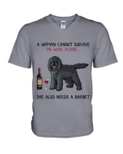Wine and Barbet 2 V-Neck T-Shirt thumbnail