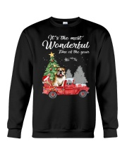 Wonderful Christmas with Truck - Bulldog Crewneck Sweatshirt thumbnail