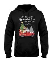 Wonderful Christmas with Truck - Bulldog Hooded Sweatshirt thumbnail