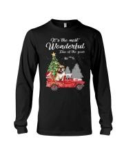 Wonderful Christmas with Truck - Bulldog Long Sleeve Tee thumbnail