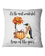 The Most Wonderful Time - Penguin Square Pillowcase thumbnail