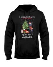 Christmas Wine and Black Labrador Hooded Sweatshirt thumbnail