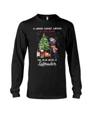 Christmas Wine and Black Labrador Long Sleeve Tee thumbnail
