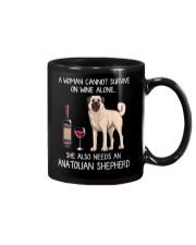 Wine and Anatolian Shepherd Mug thumbnail