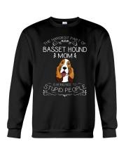 The Hardest Part of Basset Hound Mom Crewneck Sweatshirt thumbnail