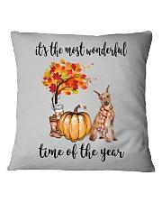 The Most Wonderful Time - Miniature Pinscher Square Pillowcase thumbnail