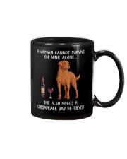 Wine and Chesapeake Bay Retriever Mug thumbnail