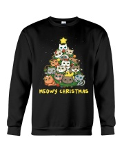 Meowy Christmas Crewneck Sweatshirt thumbnail