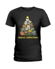 Meowy Christmas Ladies T-Shirt thumbnail