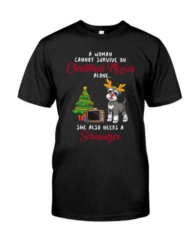 Christmas Movies and Schnauzer