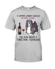 Wine and Tibetan Terrier 2 Classic T-Shirt front