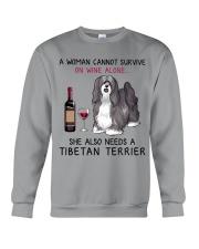 Wine and Tibetan Terrier 2 Crewneck Sweatshirt thumbnail