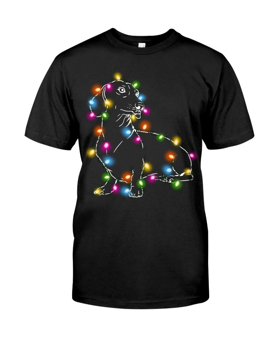 Christmas Light Dachshund Classic T-Shirt