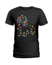Christmas Light Dachshund Ladies T-Shirt thumbnail