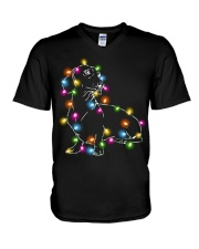 Christmas Light Dachshund V-Neck T-Shirt thumbnail