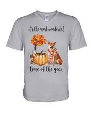 The Most Wonderful Time - Shiba Inu V-Neck T-Shirt thumbnail
