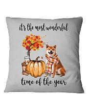 The Most Wonderful Time - Shiba Inu Square Pillowcase thumbnail