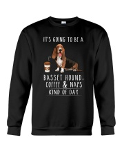Basset Hound Coffee and Naps Crewneck Sweatshirt thumbnail