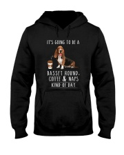 Basset Hound Coffee and Naps Hooded Sweatshirt thumbnail